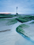 Fyr vid kusten av nya Brighton, UK Royaltyfria Bilder