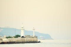 fyr yalta royaltyfri fotografi