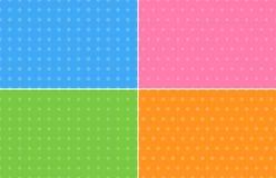 Fyra abstrakta bakgrunder i pastellfärgade färger Royaltyfri Bild