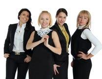 Fyra affärskvinnor arkivbilder