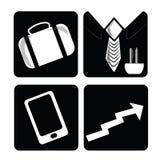 Fyra affärssymboler Arkivfoton