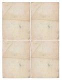 Fyra ark av åldrigt papper Royaltyfri Fotografi