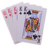 Fyra-av-en-sort poker Royaltyfri Fotografi