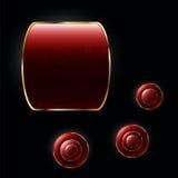Fyra av vektorn formar på den svarta bakgrunden Arkivfoton