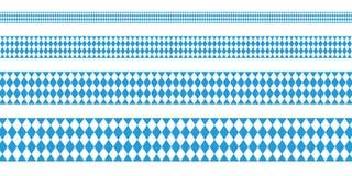 Fyra baner Oktoberfest raka Diamond Pattern royaltyfri illustrationer