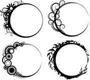 Fyra blom- askar för cirkel Fotografering för Bildbyråer