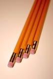 fyra blyertspennor royaltyfri foto