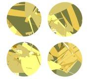 Fyra cirklar på en ljus bakgrund med abstrakta linjer royaltyfri illustrationer