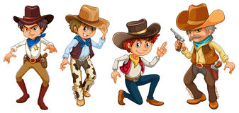 Fyra cowboyer Arkivfoto