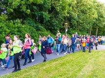Fyra - dag som evning marschen av Lelystad Arkivbilder