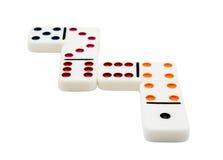 Fyra domino Royaltyfri Foto