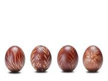Fyra easter ägg Arkivbild