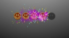 Fyra Emoticons som klassar bild Arkivfoto