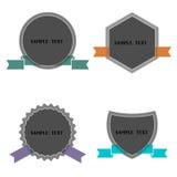 Fyra etiketter i retro utformar Arkivfoton