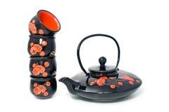 fyra exponeringsglas lägger in tea Fotografering för Bildbyråer