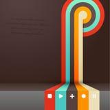 Fyra färgade band med stället för din egen text. Arkivbilder
