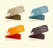 Fyra färgade pappers- band. Royaltyfri Bild