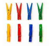 Fyra färgade pinnor Royaltyfria Bilder
