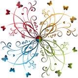 Fyra färgar virvlar runt Arkivbilder