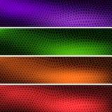 Fyra färgrika bakgrundstitelrader för din plats royaltyfri illustrationer