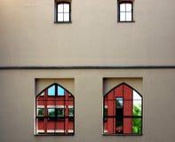 fyra fönster Arkivfoton
