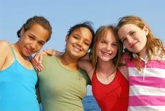 fyra flickor Royaltyfri Fotografi