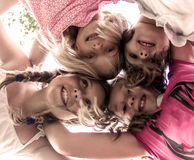 fyra flickor little Royaltyfri Fotografi