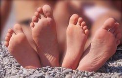 Fyra fot på Pebblet Beach Royaltyfria Foton
