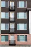Fyra franska balkonger Royaltyfria Bilder