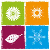 Fyra färgar säsonger Arkivbild