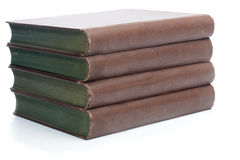 Fyra gamla böcker från det 19th århundradet Arkivbild