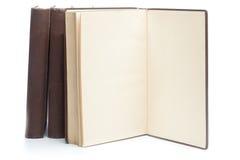 Fyra gamla böcker från det 19th århundradet Royaltyfria Foton