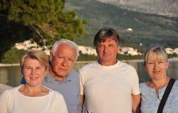 fyra gamla människor arkivbilder