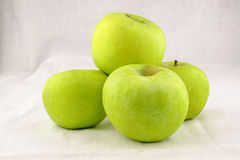Fyra gröna Apple Royaltyfria Foton