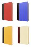 Fyra inbunden bokböcker Royaltyfria Foton