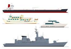 fyra isolerade ships vektor illustrationer
