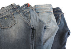 Fyra jeans. Royaltyfria Bilder