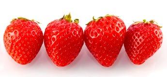 fyra jordgubbar Fotografering för Bildbyråer