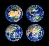 fyra jordklot Arkivbild