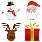 Fyra julsymboler Arkivbild