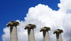 Fyra kolonner som ett symbol av de fyra Catalan stängerna Arkivbild