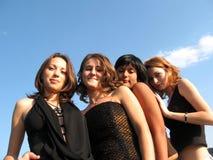 fyra kvinnor Arkivfoton