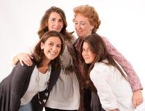 Fyra kvinnor Fotografering för Bildbyråer