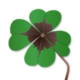 Fyra-leaf växt av släkten Trifolium royaltyfri illustrationer