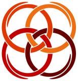 fyra logoswirls Arkivfoton