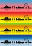 fyra london säsonger royaltyfri illustrationer