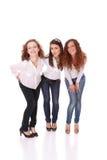 fyra lyckliga sexiga kvinnor för grupp royaltyfria foton