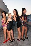 Fyra lyckliga vänner Royaltyfri Fotografi
