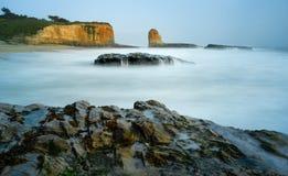 Fyra mil strand, Kalifornien Arkivbild