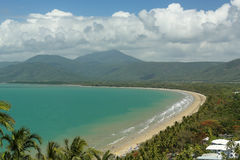 Fyra mil strand Port Douglas Arkivfoton